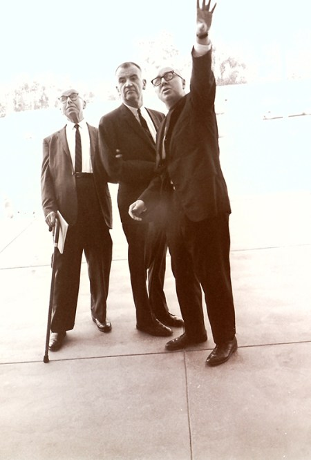 President Atherton with Russell K. Pitzer and Jack Hartley, 1964