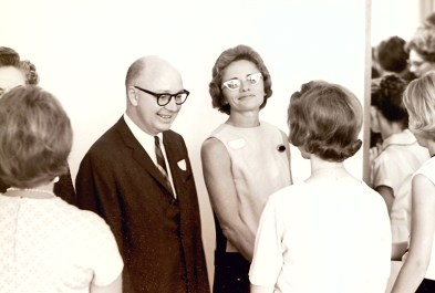 President Atherton and Wife Virginia at Orientation, 1964