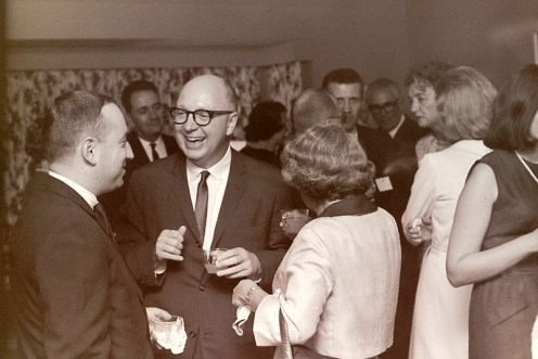 Steve Glass with President Atherton at Reception, 1964