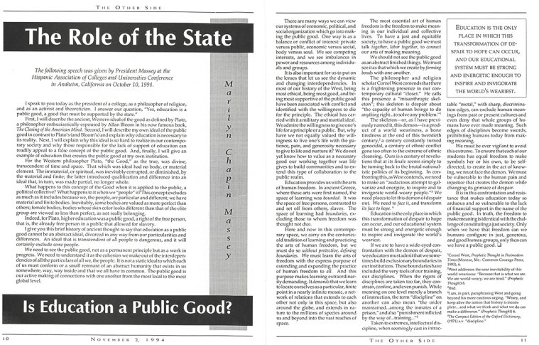 The Other Side: November 2, 1994, Vol. 24, Issue 2, pages 10-11