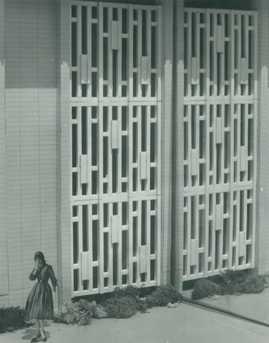 Scott Hall Model Detail of Decorative Screen, undated
