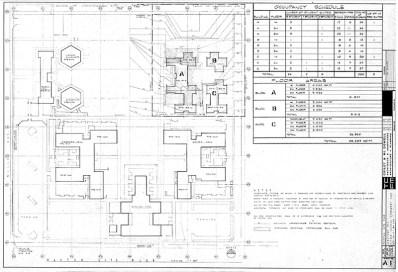 Master Site Plan, Sheet A-1, October 5, 1966