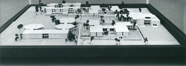 Model of Pitzer College Master Plan, undated