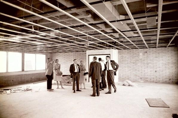 Tour of Sanborn Hall Construction, June 13, 1964