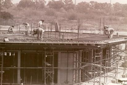 Construction of Bernard Hall, September 8, 1965