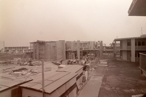 Construction of Avery Hall, Northeast View, March 17, 1969
