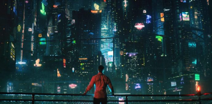 Altered Carbon scenario cyberpunk