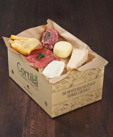 cassetta Cortilia carne e formaggi