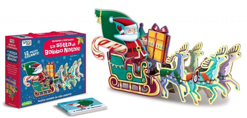 Puzzle gigante 3D con libro Sassi Junior