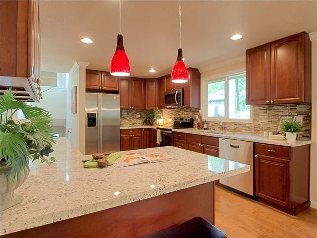 Cognac Raised Arch (Parawood) - Pius Kitchen & Bath on What Color Countertops Go With Maple Cabinets  id=30912