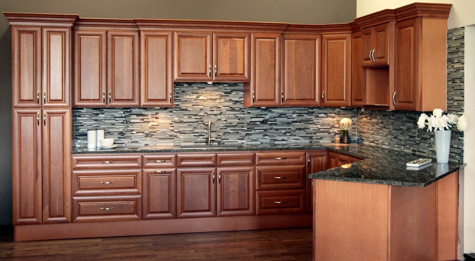 Best Kitchen Gallery: Natural American Cherry Raised Panel Pius Kitchen Bath of Raised Panel Kitchen Cabinet Doors on cal-ite.com