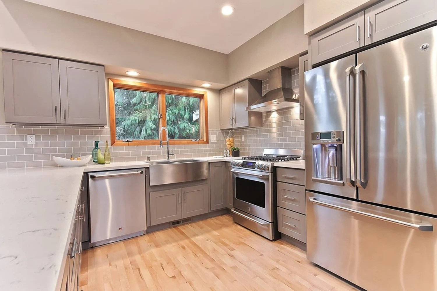 Grey Shaker (Maple) - Pius Kitchen & Bath on Gray Countertops With Maple Cabinets  id=25816