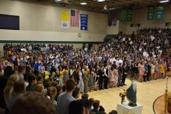 senior procession may crowning