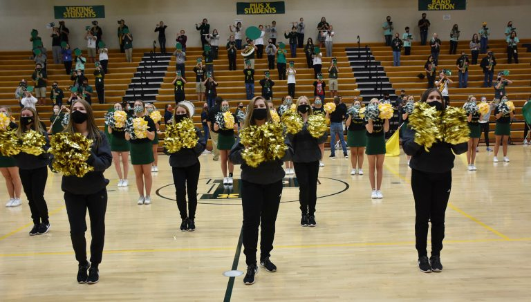 homecoming pep rally cheer dance band