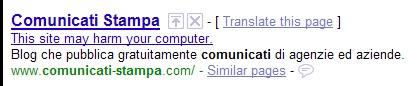 Comunicati-Stampa.com malware