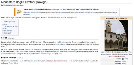 Wikipedia - Monastero degli Olivetani - Biagio Rocchetti