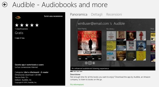 Audible: Windows 8 Store