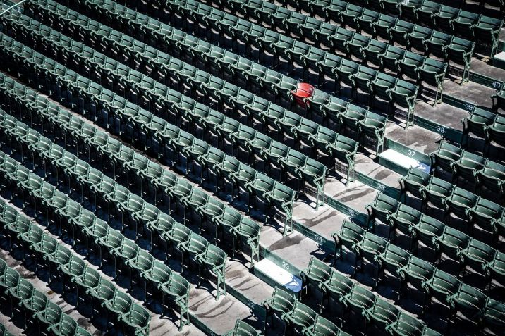 Lone Red Seat