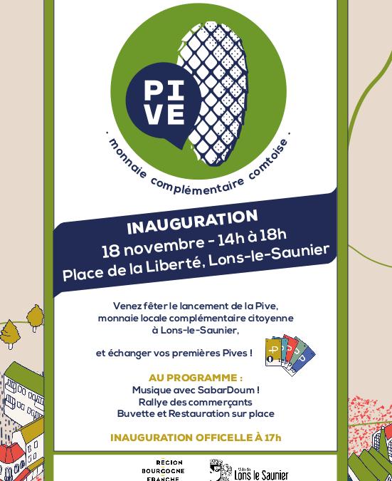 L'inauguration de la Pive à Lons, c'est samedi !