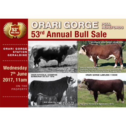 Orari Gorge Herefords - 7 June 2017