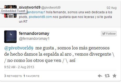 El tweet de Fernando Romay