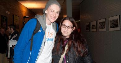 Sandra con una de sus idolos...Lauren Jackson
