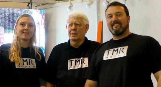 Hans Ruf el inventor del Tirante Musculador Ruf, Carles Llinas y Silvia Ruf los fabricantes y distribuidores oficiales