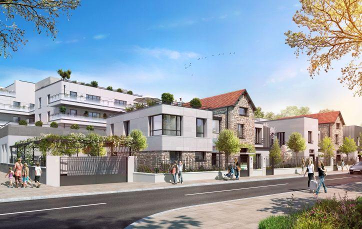 Perspective Villas Projet Grand Paris Aménagement - Saint-Maur-des-Fossés - Client : A26 Architecture