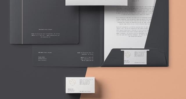 Basic Stationery Branding Vol 10 Psd Mock Up Templates Pixeden
