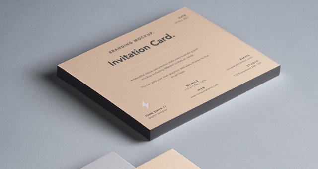 psd invitation card mockup vol6 psd