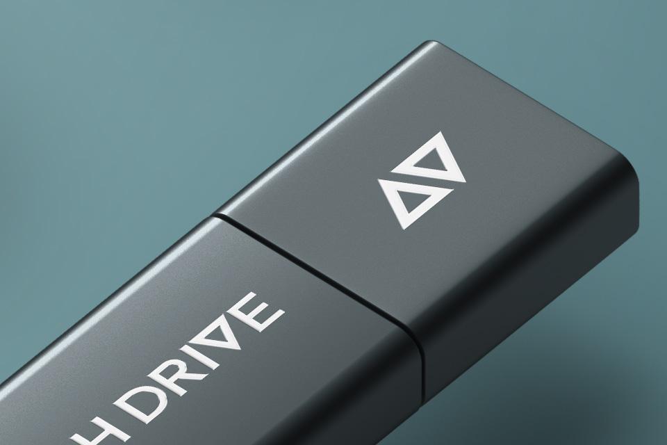 Psd Usb Flash Drive Brand Mockup Psd Mock Up Templates Pixeden
