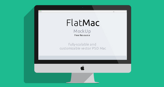 Imac Macbook Psd Flat Mockup Psd Mock Up Templates Pixeden