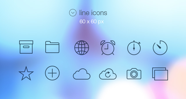 Tab Bar Icons Ios 7 Media Icons Pixeden