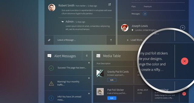 Glazzed Psd Admin Panel Template Psd Web Templates Pixeden