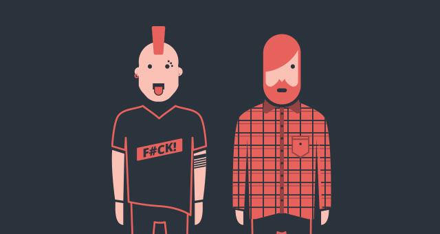 Indie Hipster Vector Character Set Vector Characters Pixeden