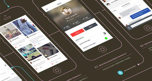 Psd Wireframe App Showcase Mockup Psd Mock Up Templates Pixeden