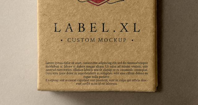 Psd Label Brand Mockup Vol1 Psd Mock Up Templates Pixeden