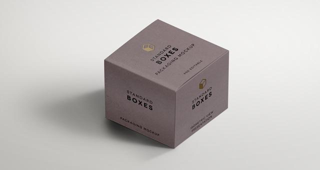 Standard Packaging Box Mockups Psd Mock Up Templates