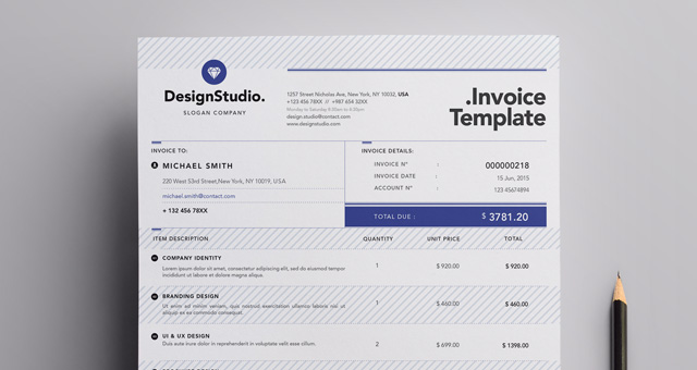 Professional Invoice Template   Misc Print   Pixeden Professional Invoice Template  Title