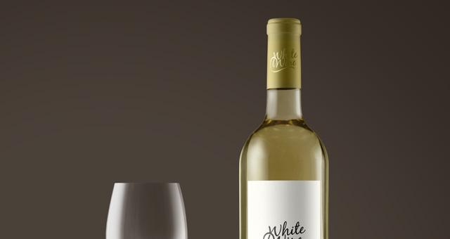 Psd White Wine Bottle Mockup Vol2 Psd Mock Up Templates Pixeden