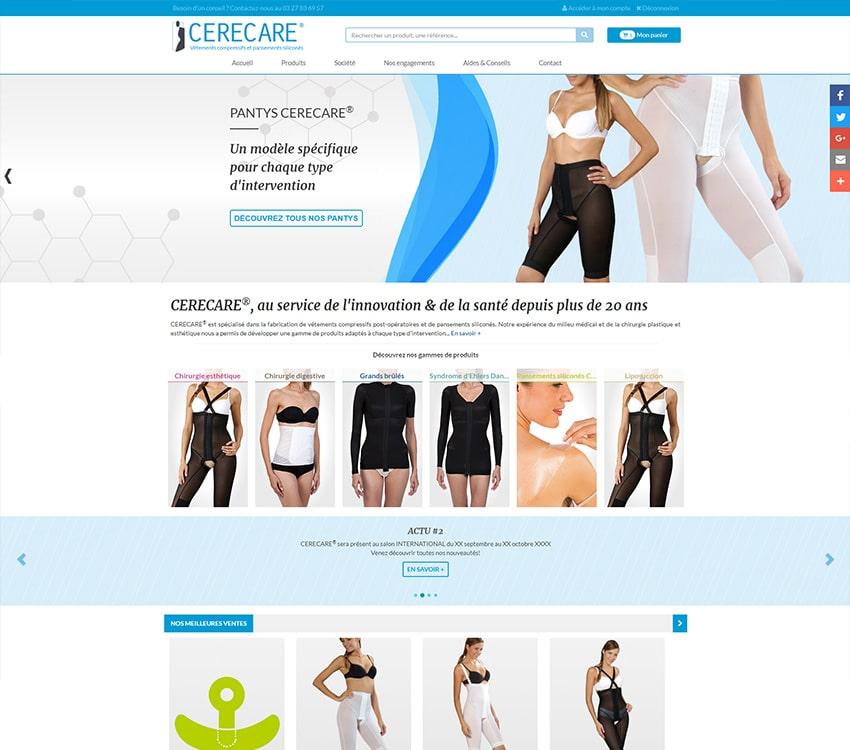 Création site Internet Cerecare Symfony