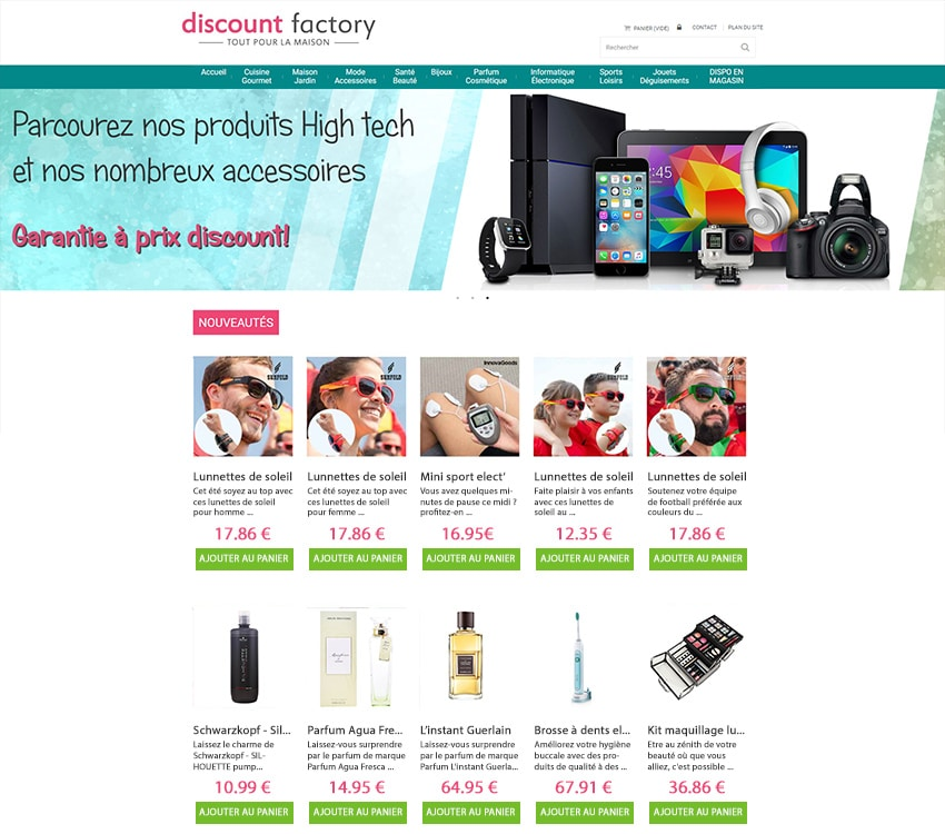Discount-factory site marchand Prestashop