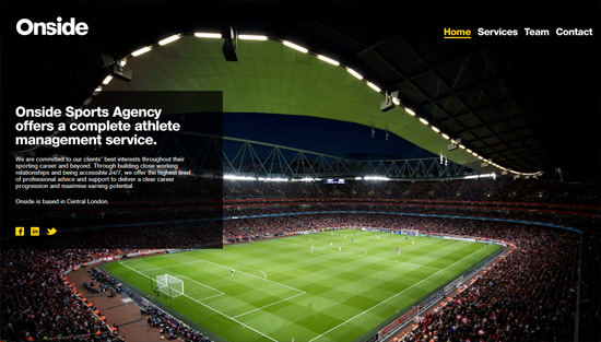 Photo background example: Onside Sports Agency