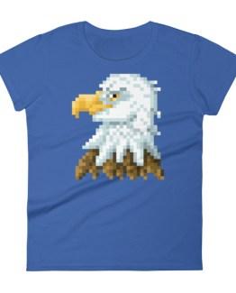 Bald Eagle womens tee in blue