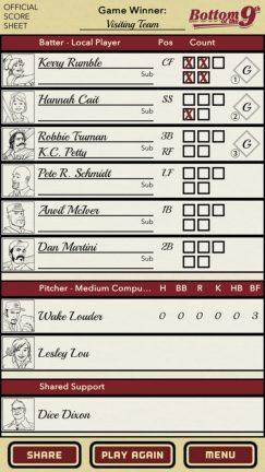 Score Sheet