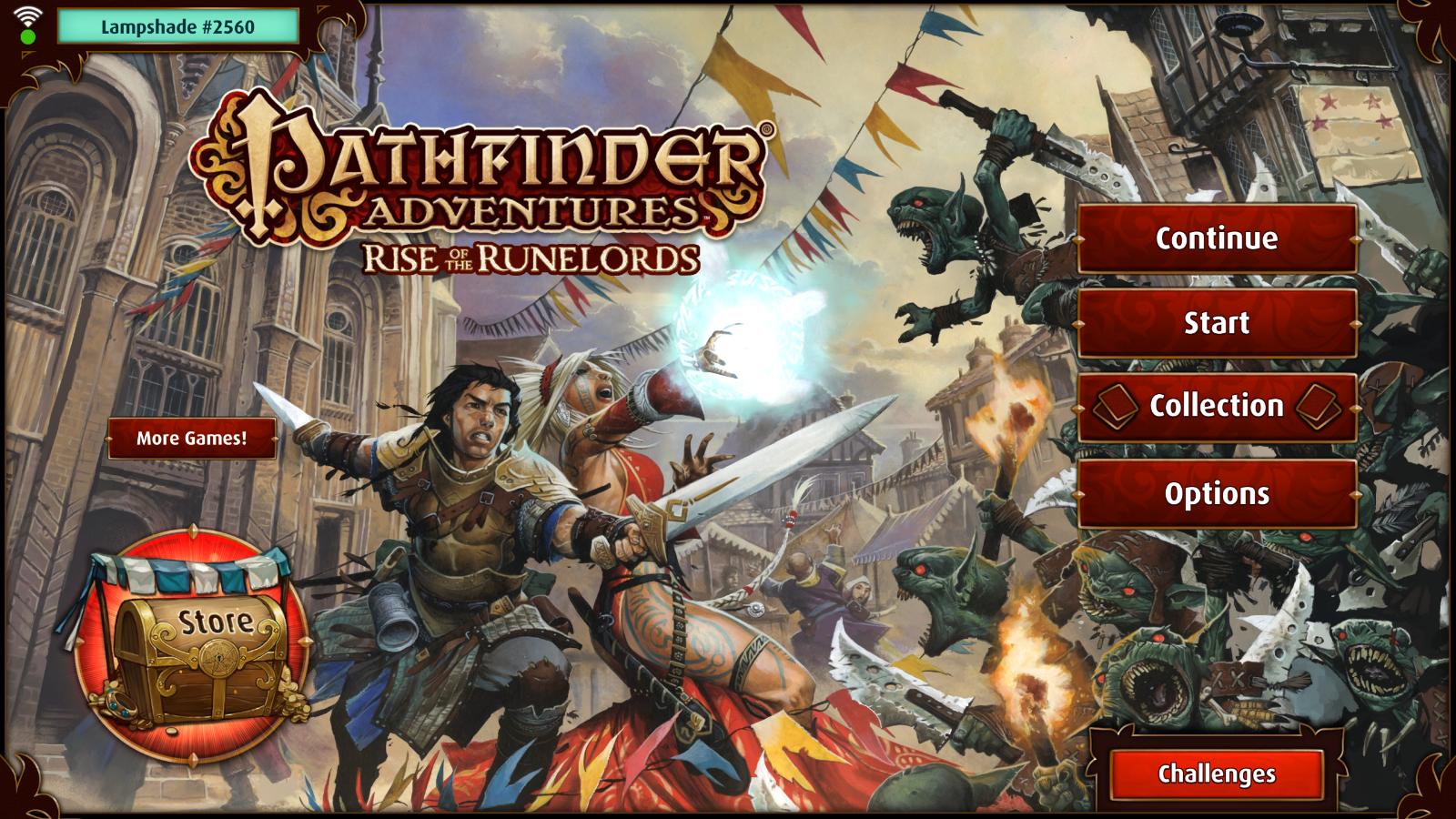 Pathfinder - menu