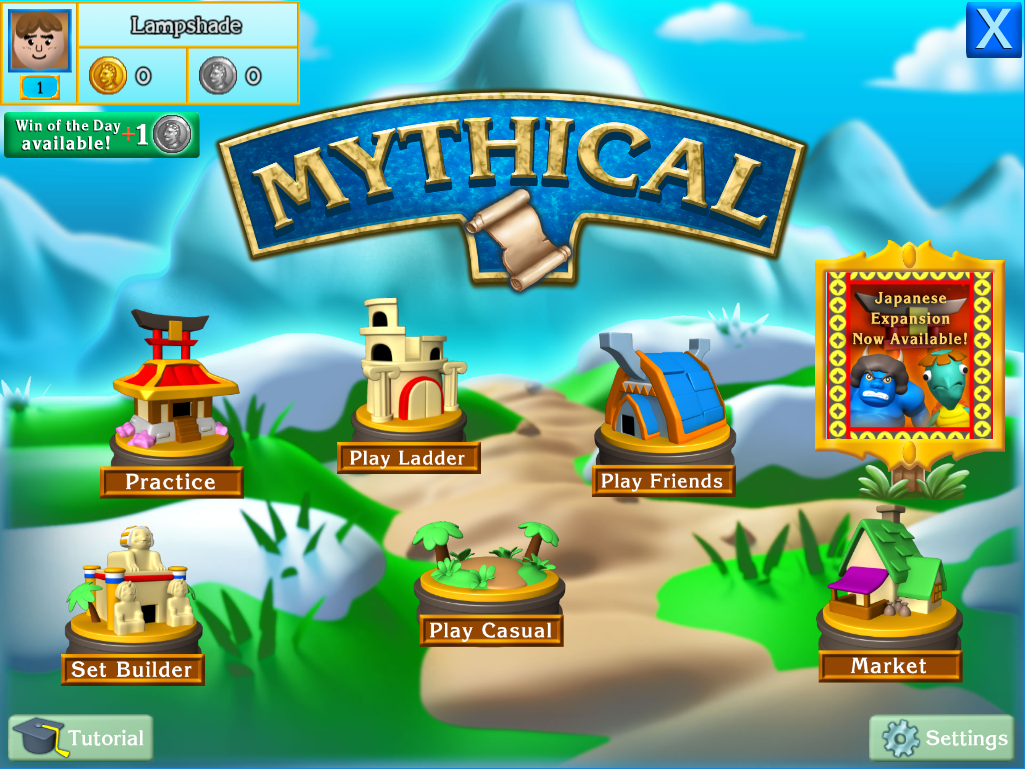 mythical - menu