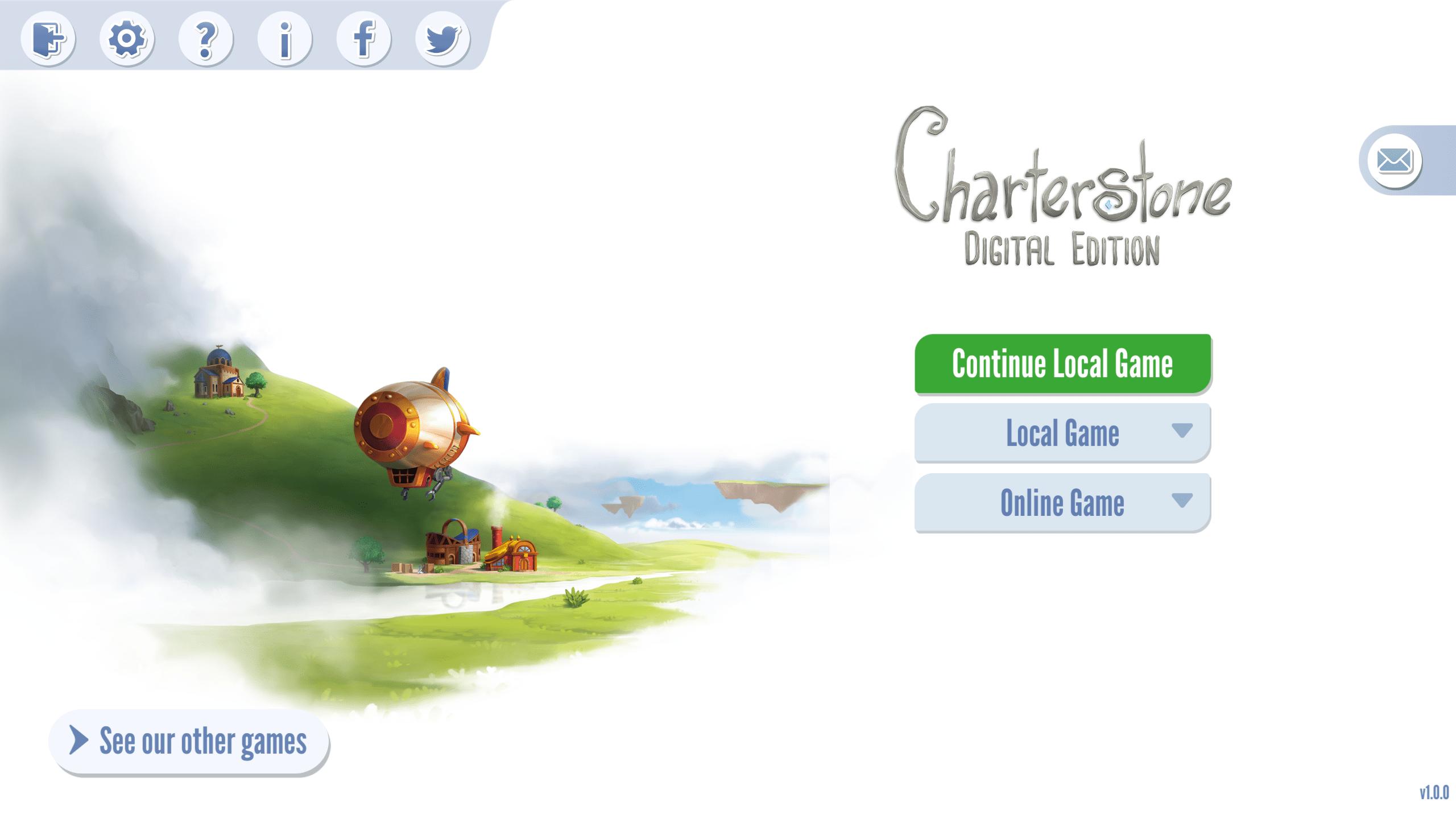 charterstone - menu