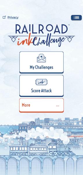 railroad ink challenge - menu