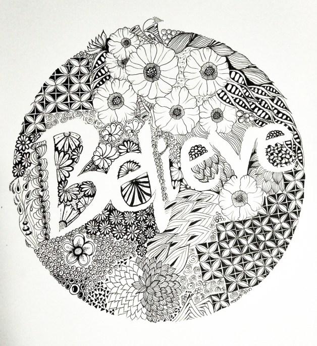 zentangle inspired art - sketch - drawing